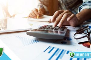 A man checks credit reports