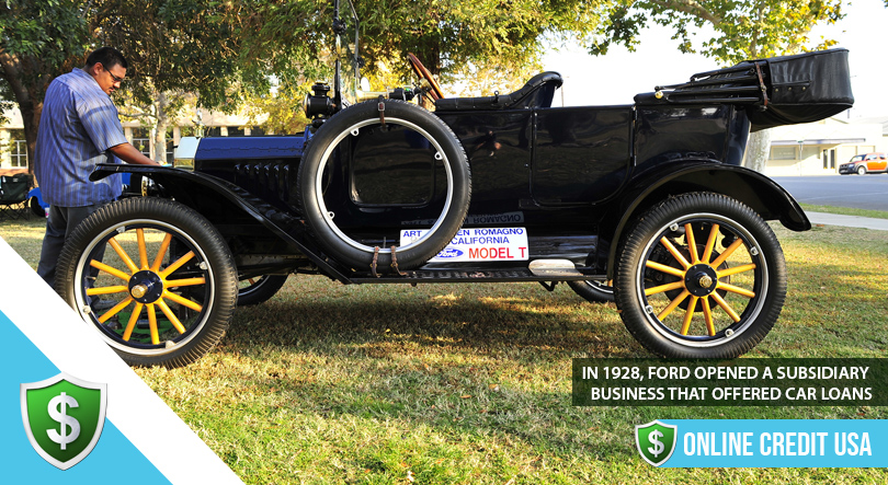 A restored Ford Model T on display at an exhibition